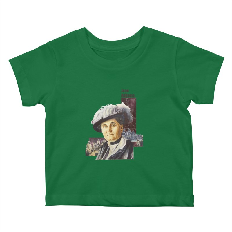 Jane Addams Kids Baby T-Shirt by Afro Triangle's