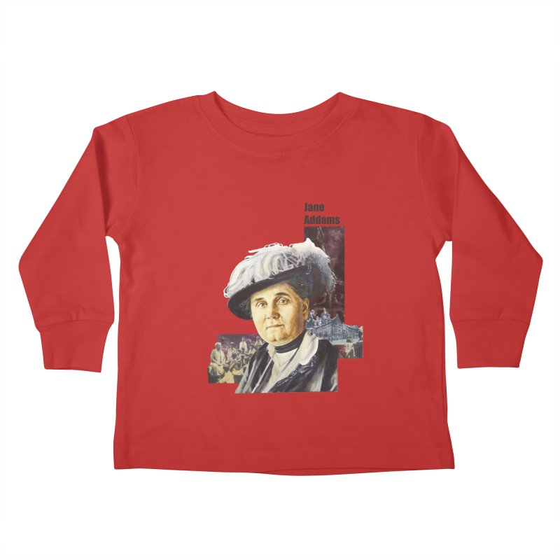 Jane Addams Kids Toddler Longsleeve T-Shirt by Afro Triangle's