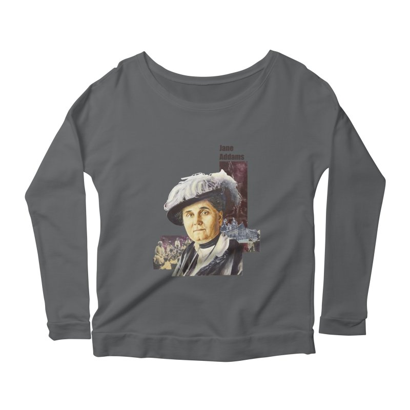 Jane Addams Women's Scoop Neck Longsleeve T-Shirt by Afro Triangle's