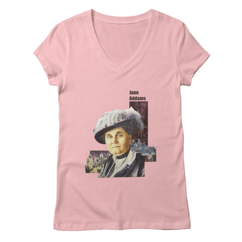 Jane Addams Women's Regular V-Neck by Afro Triangle's