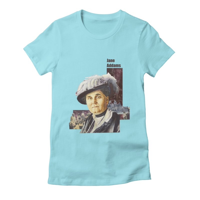 Jane Addams Women's Fitted T-Shirt by Afro Triangle's
