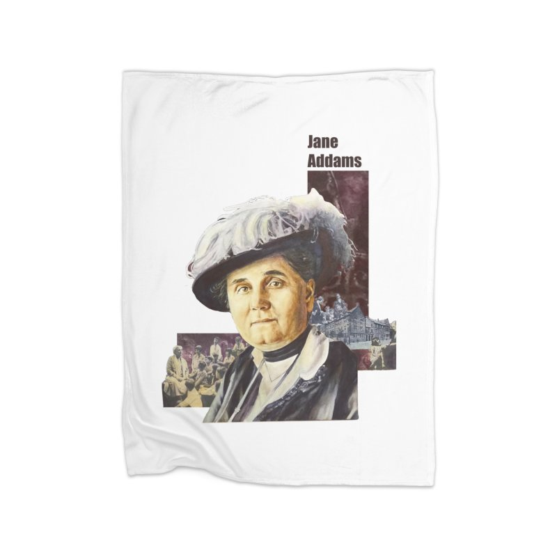 Jane Addams Home Fleece Blanket Blanket by Afro Triangle's