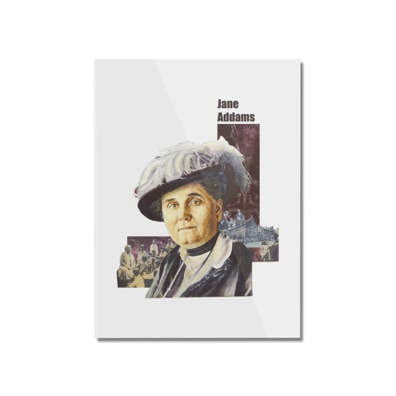 Jane Addams Home Mounted Acrylic Print by Afro Triangle's