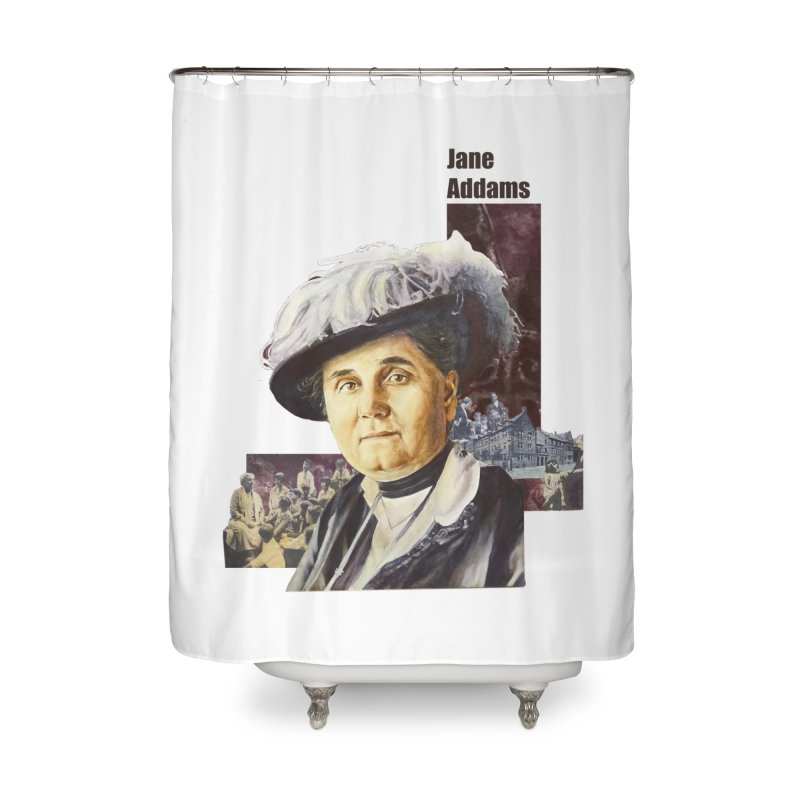 Jane Addams Home Shower Curtain by Afro Triangle's
