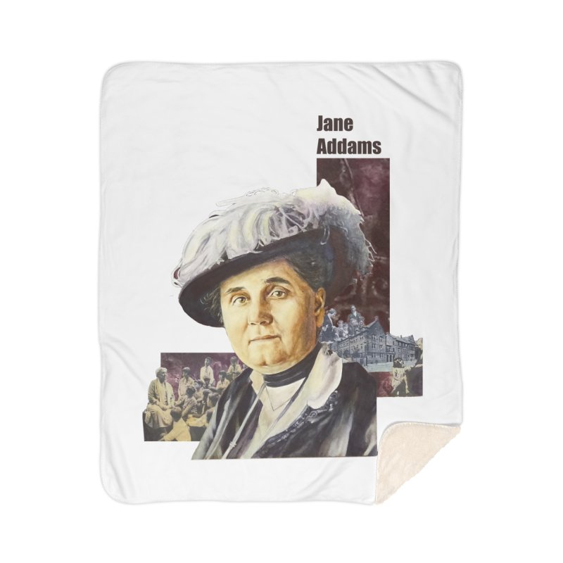 Jane Addams Home Sherpa Blanket Blanket by Afro Triangle's