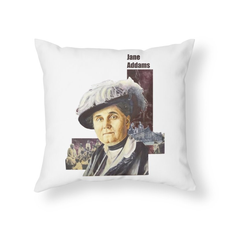 Jane Addams Home Throw Pillow by Afro Triangle's