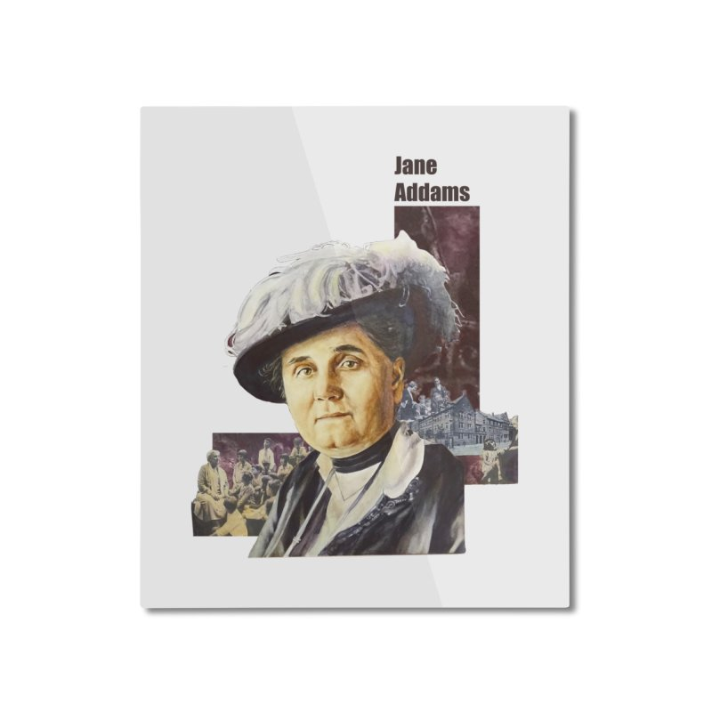 Jane Addams Home Mounted Aluminum Print by Afro Triangle's