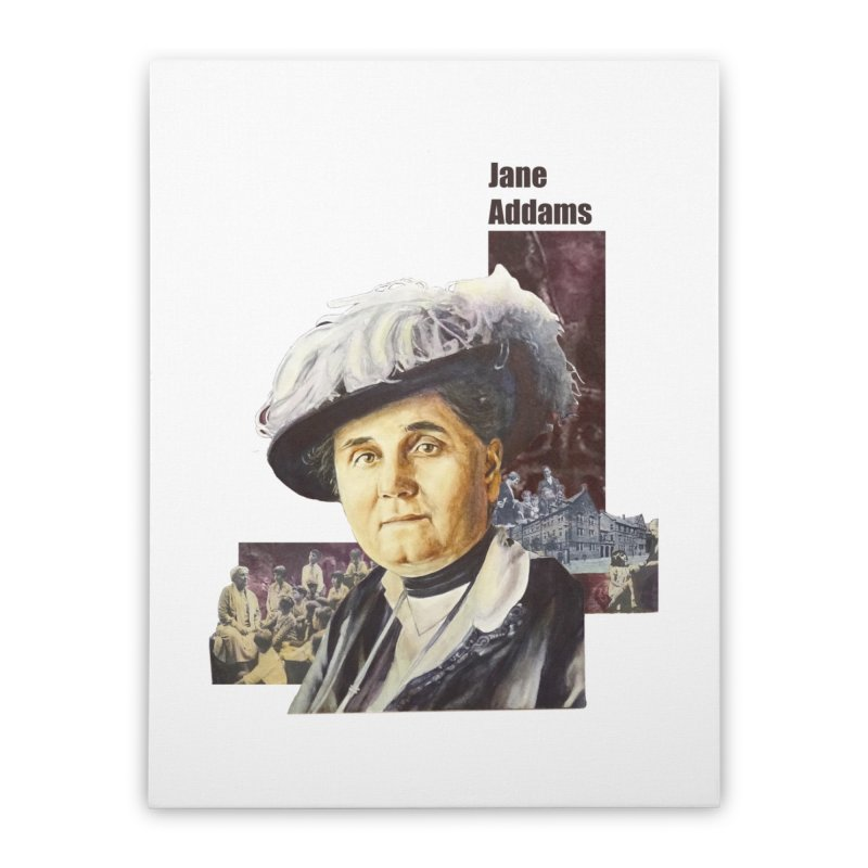 Jane Addams Home Stretched Canvas by Afro Triangle's