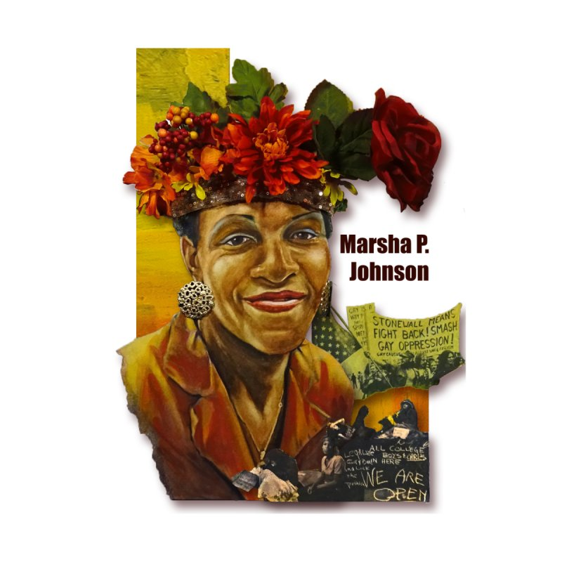 Marsha P Johnson Home Mounted Aluminum Print by Afro Triangle's