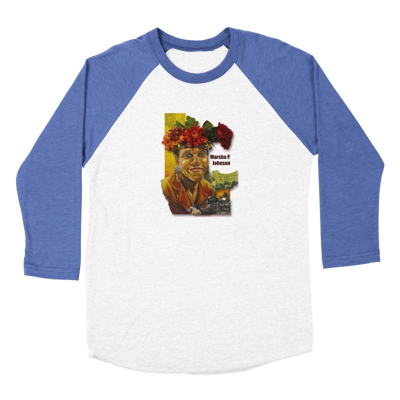 Marsha P Johnson Women's Baseball Triblend Longsleeve T-Shirt by Afro Triangle's