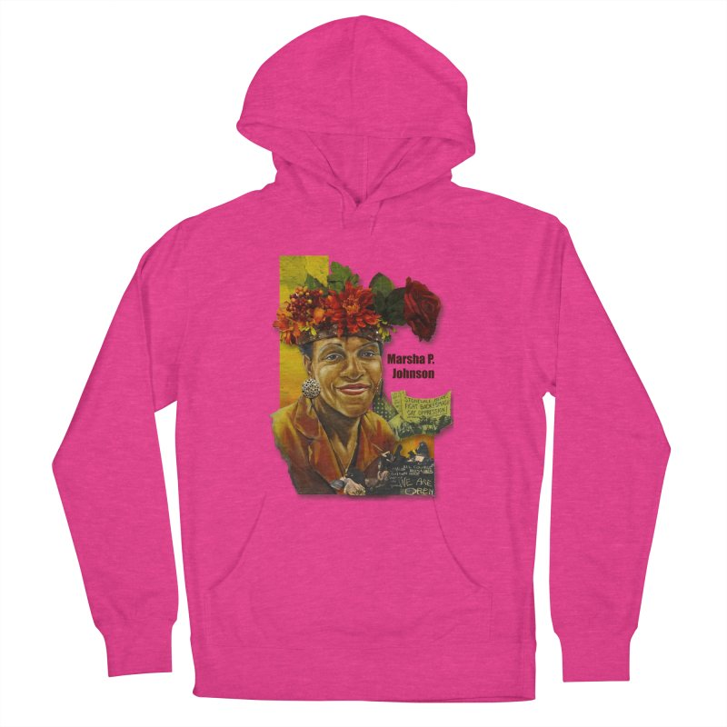Marsha P Johnson Women's French Terry Pullover Hoody by Afro Triangle's