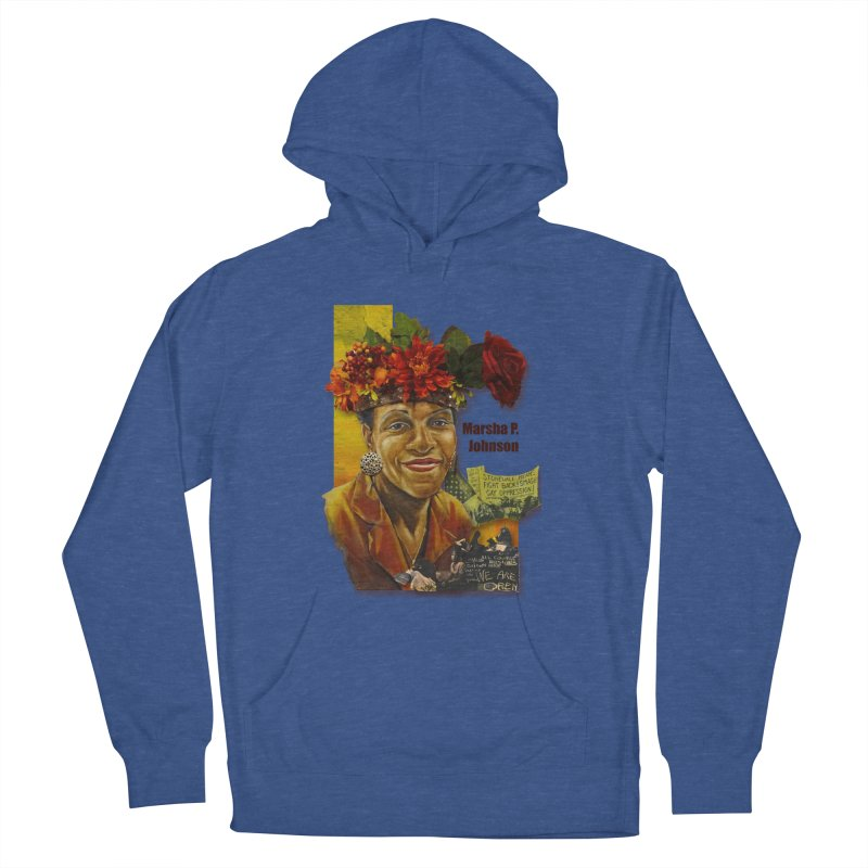 Marsha P Johnson Men's French Terry Pullover Hoody by Afro Triangle's