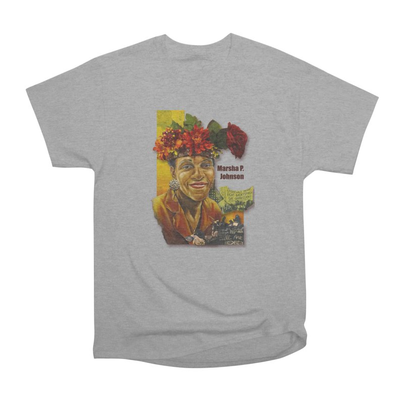 Marsha P Johnson Men's Heavyweight T-Shirt by Afro Triangle's