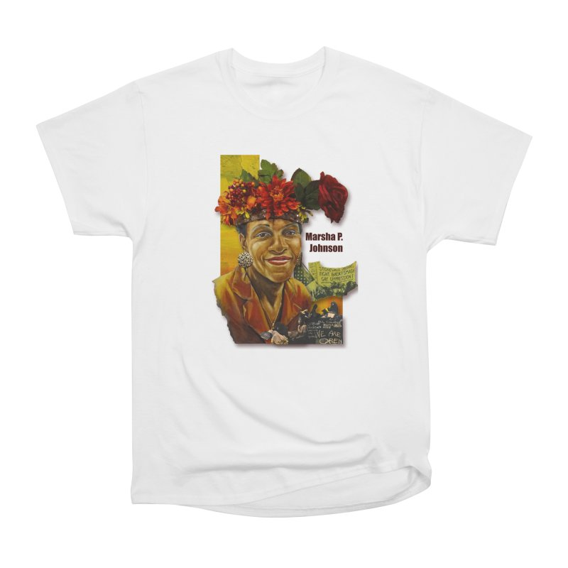 Marsha P Johnson Women's Heavyweight Unisex T-Shirt by Afro Triangle's