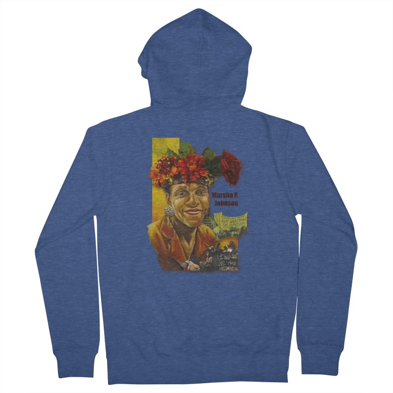 Marsha P Johnson Men's French Terry Zip-Up Hoody by Afro Triangle's