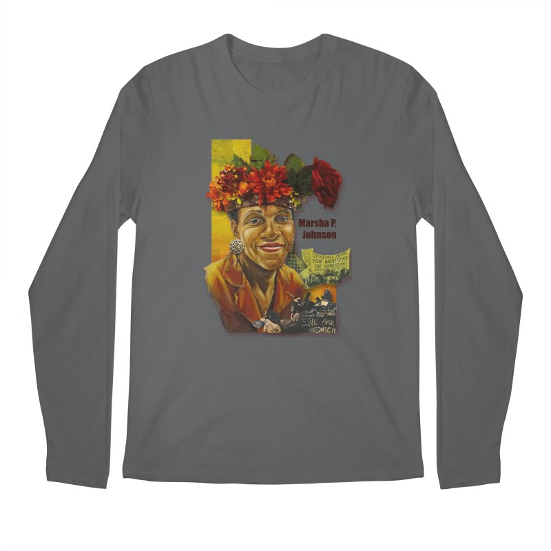 Marsha P Johnson Men's Longsleeve T-Shirt by Afro Triangle's