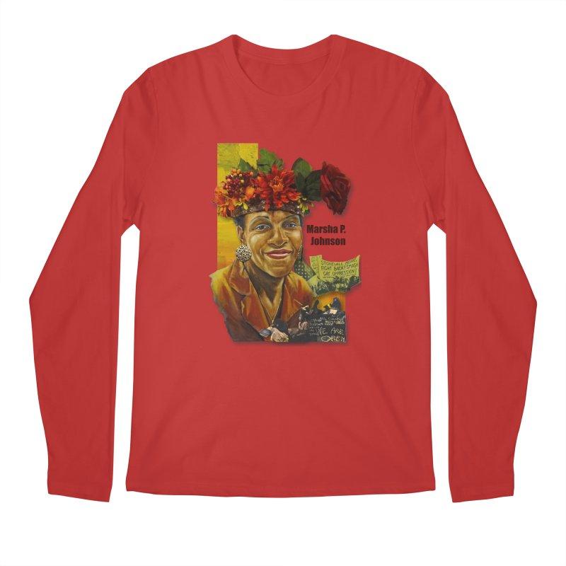 Marsha P Johnson Men's Regular Longsleeve T-Shirt by Afro Triangle's