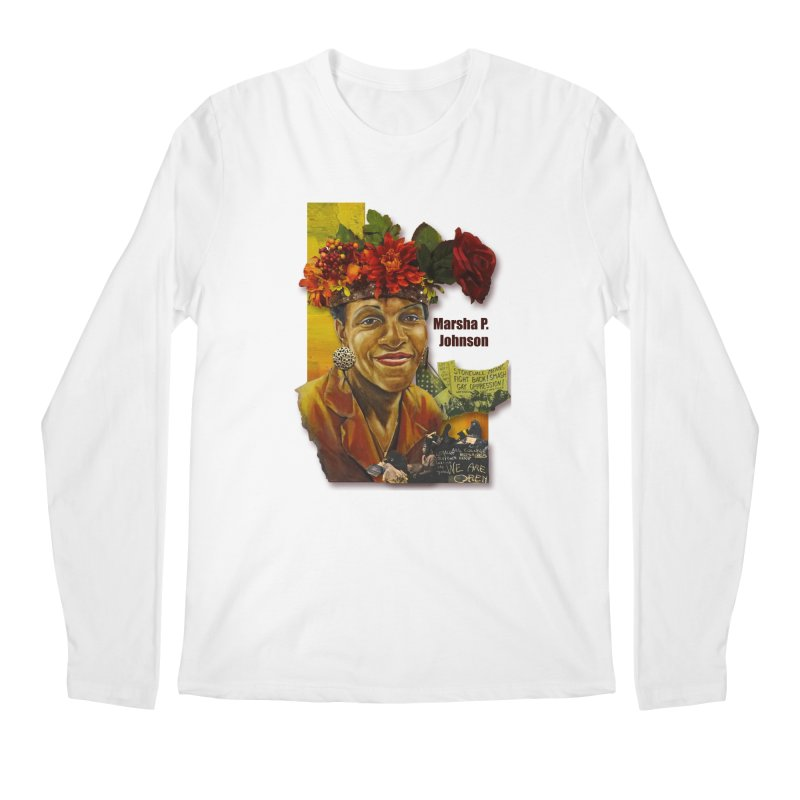 Marsha P Johnson Men's Regular Longsleeve T-Shirt by Afro Triangle's