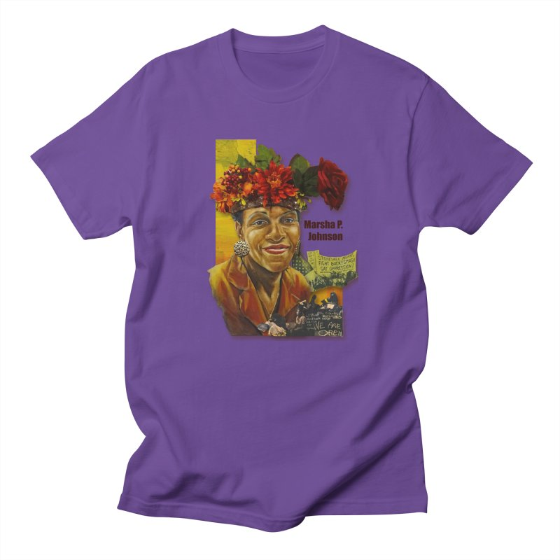 Marsha P Johnson Women's Regular Unisex T-Shirt by Afro Triangle's