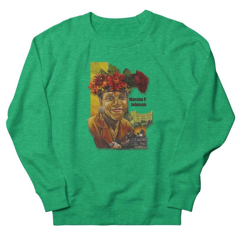 Marsha P Johnson Men's French Terry Sweatshirt by Afro Triangle's