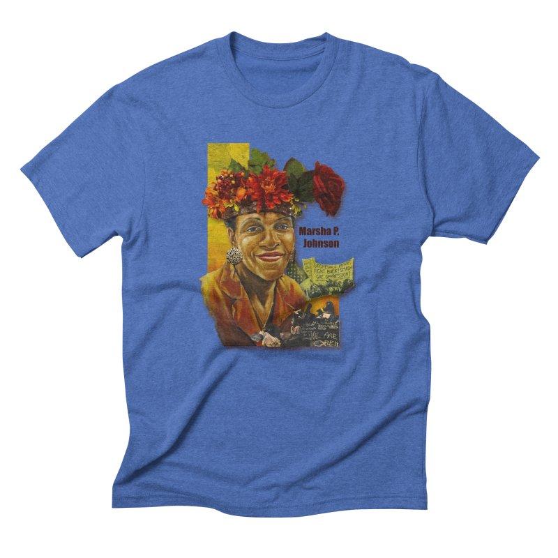 Marsha P Johnson Men's T-Shirt by Afro Triangle's