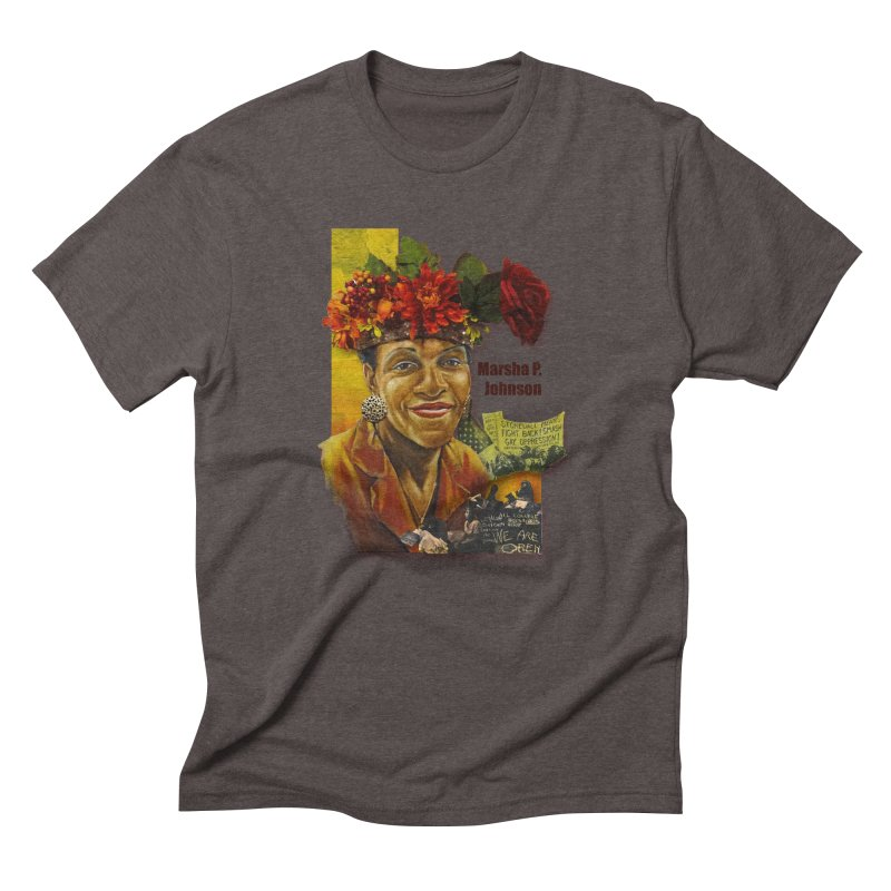 Marsha P Johnson Men's Triblend T-Shirt by Afro Triangle's