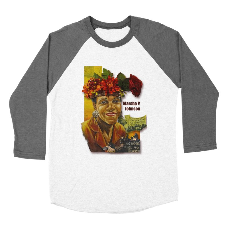 Marsha P Johnson Women's Baseball Triblend Longsleeve T-Shirt by Afro Triangle's