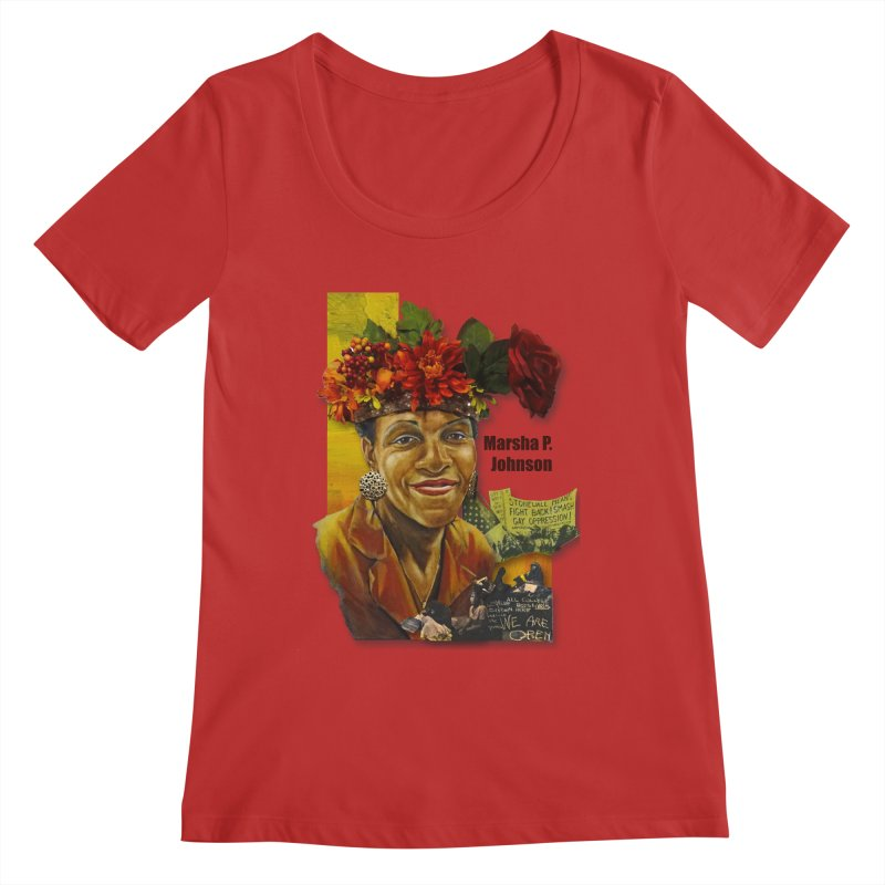 Marsha P Johnson Women's Regular Scoop Neck by Afro Triangle's