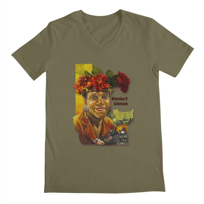 Marsha P Johnson Men's V-Neck by Afro Triangle's