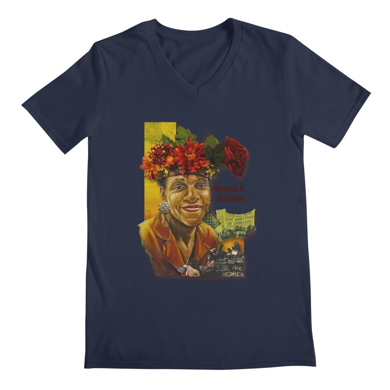 Marsha P Johnson Men's Regular V-Neck by Afro Triangle's