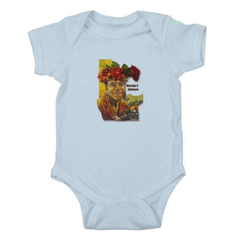 Marsha P Johnson Kids Baby Bodysuit by Afro Triangle's