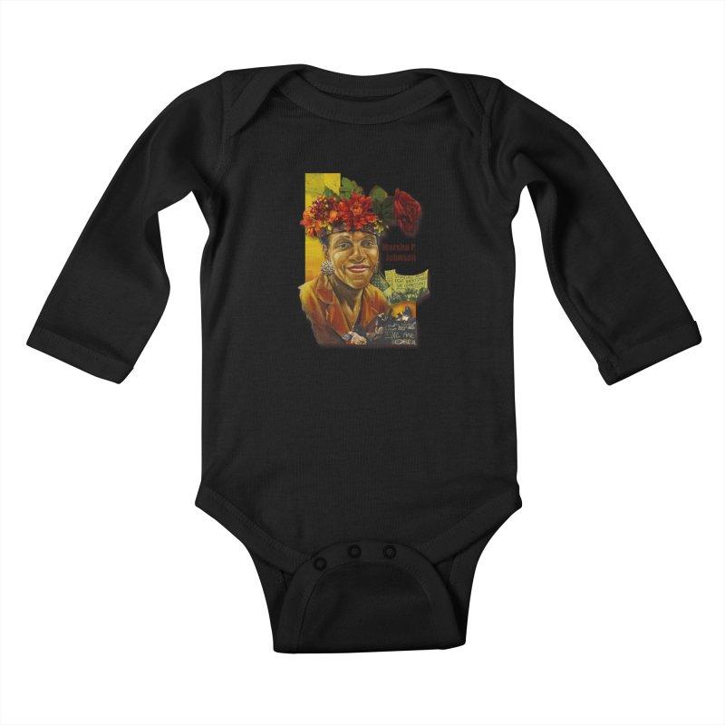 Marsha P Johnson Kids Baby Longsleeve Bodysuit by Afro Triangle's