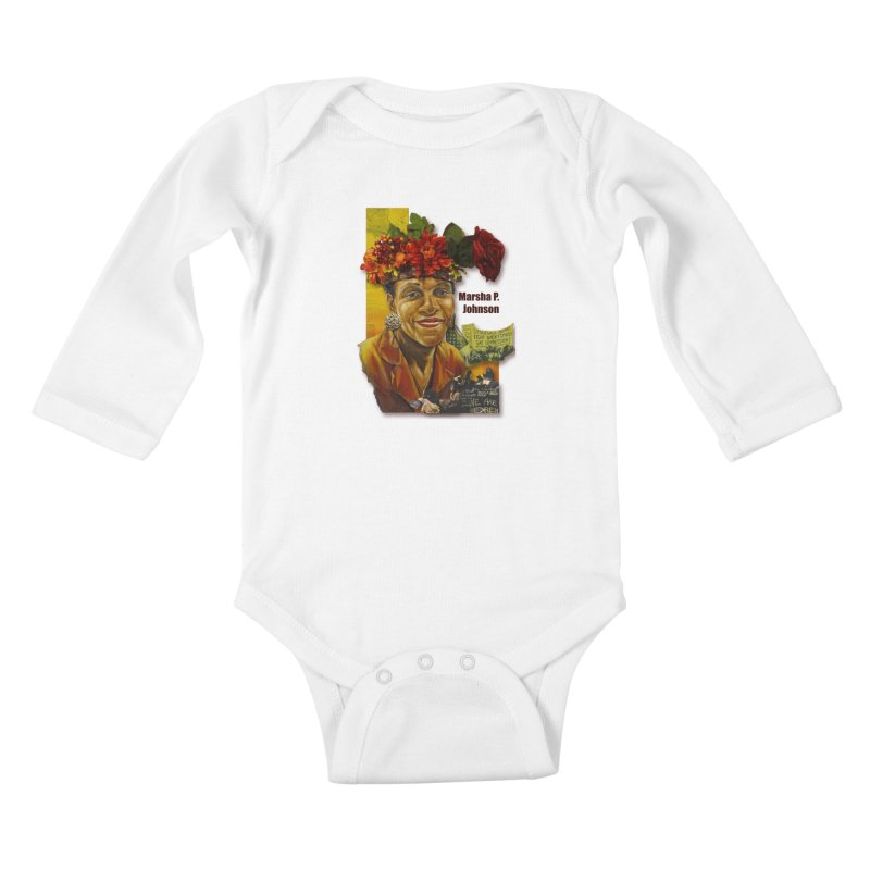 Marsha P Johnson Kids Baby Longsleeve Bodysuit by Afro Triangle's
