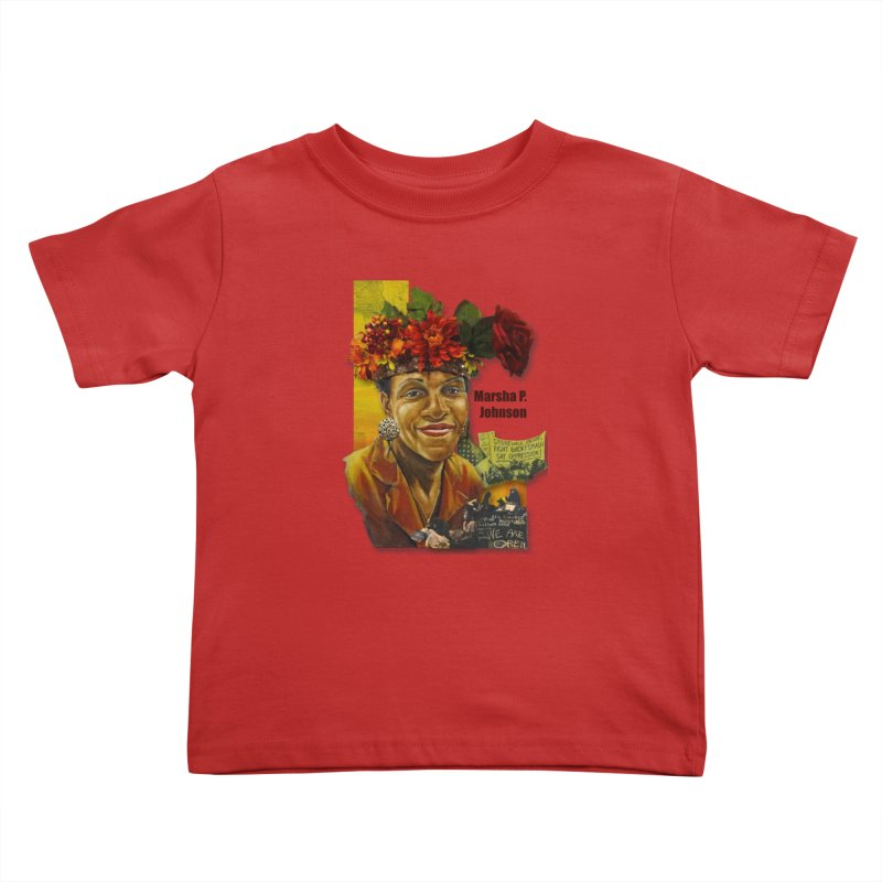 Marsha P Johnson Kids Toddler T-Shirt by Afro Triangle's