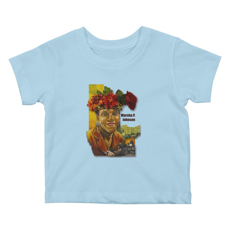 Marsha P Johnson Kids Baby T-Shirt by Afro Triangle's