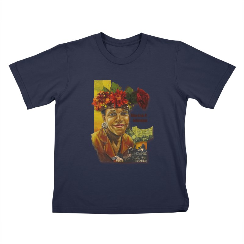 Marsha P Johnson Kids T-Shirt by Afro Triangle's