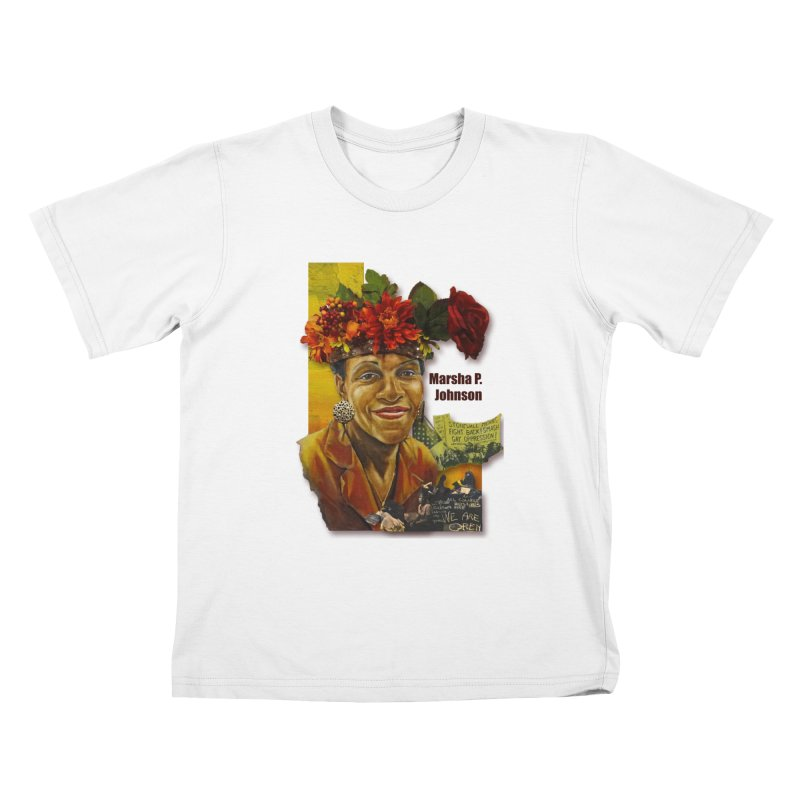 Marsha P Johnson Kids T-Shirt by Afro Triangle's