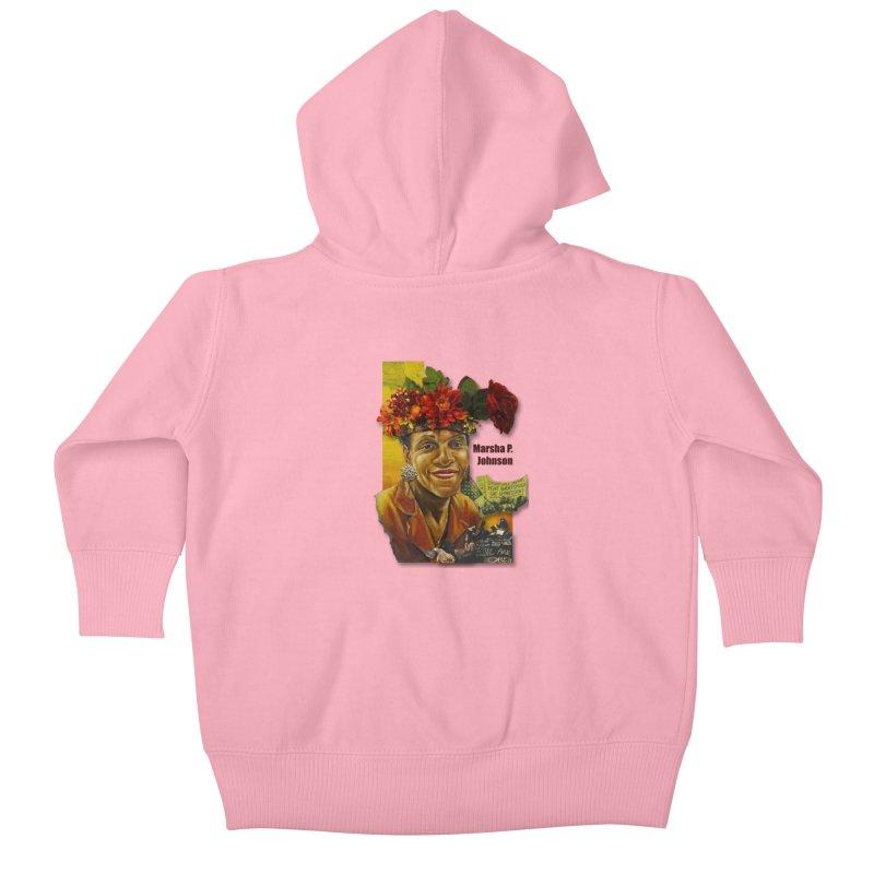 Marsha P Johnson Kids Baby Zip-Up Hoody by Afro Triangle's