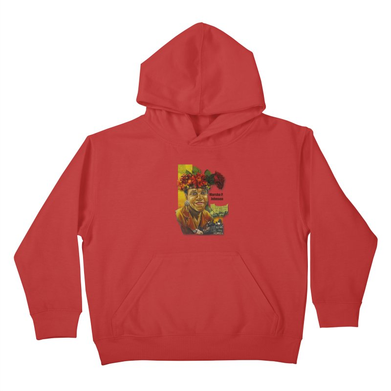 Marsha P Johnson Kids Pullover Hoody by Afro Triangle's