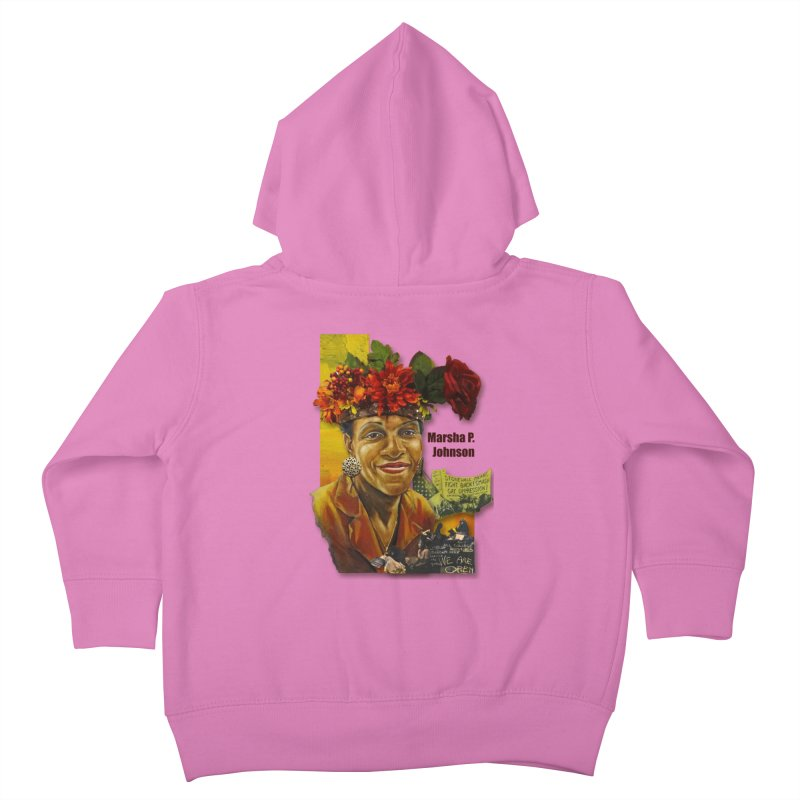 Marsha P Johnson Kids Toddler Zip-Up Hoody by Afro Triangle's