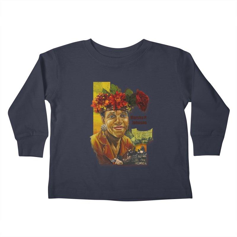Marsha P Johnson Kids Toddler Longsleeve T-Shirt by Afro Triangle's