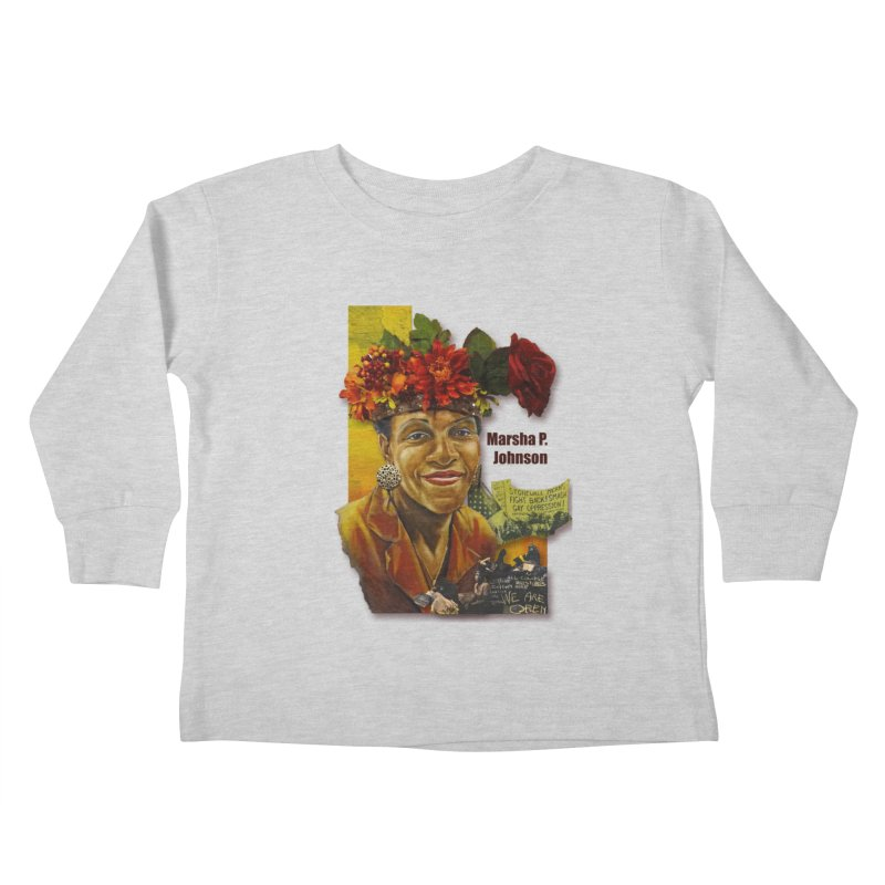 Marsha P Johnson Kids Toddler Longsleeve T-Shirt by Afro Triangle's