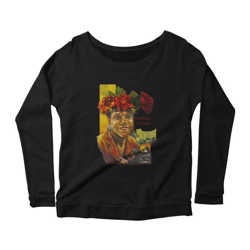 Marsha P Johnson Women's Scoop Neck Longsleeve T-Shirt by Afro Triangle's