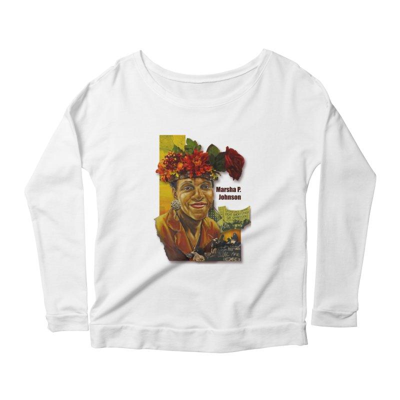 Marsha P Johnson Women's Scoop Neck Longsleeve T-Shirt by Afro Triangle's