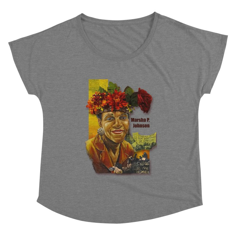 Marsha P Johnson Women's Scoop Neck by Afro Triangle's