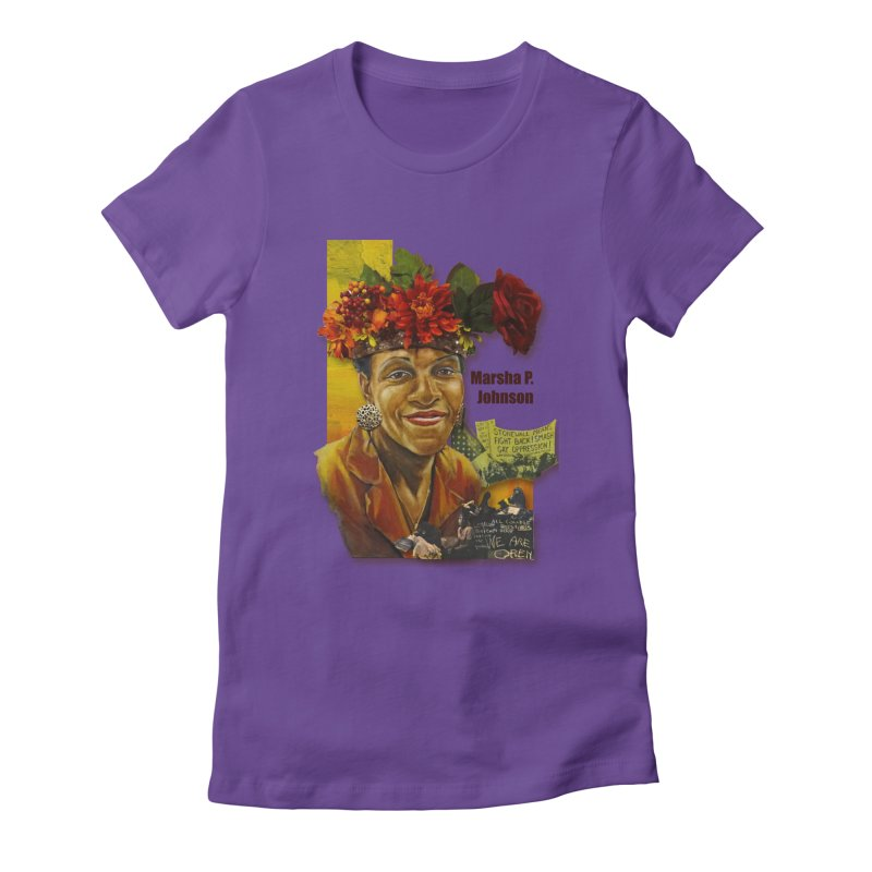 Marsha P Johnson Women's Fitted T-Shirt by Afro Triangle's