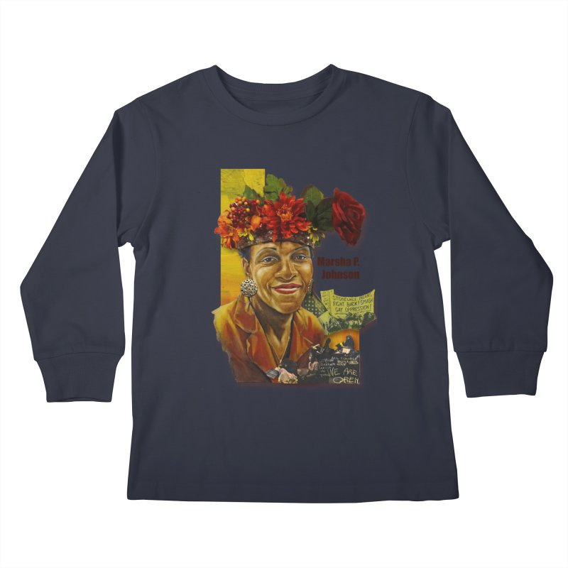 Marsha P Johnson Kids Longsleeve T-Shirt by Afro Triangle's