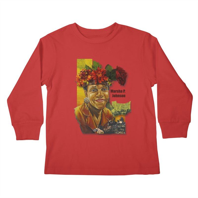 Marsha P Johnson Kids Longsleeve T-Shirt by Afro Triangle's