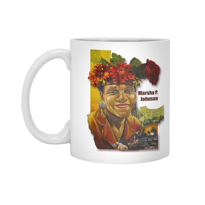Marsha P Johnson Accessories Standard Mug by Afro Triangle's