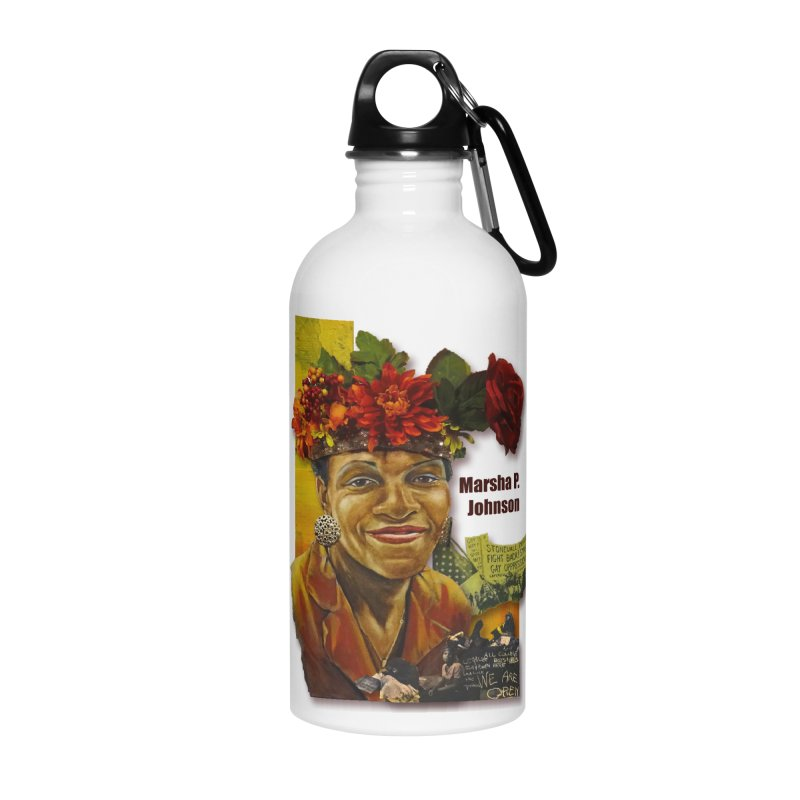 Marsha P Johnson Accessories Water Bottle by Afro Triangle's